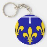 French Flag Orleans Key Chain