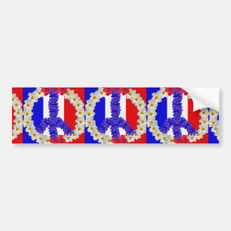 french flag peace sign bumper sticker