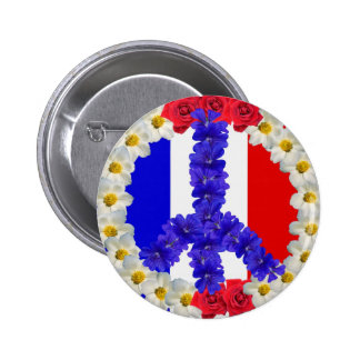french flag peace sign button
