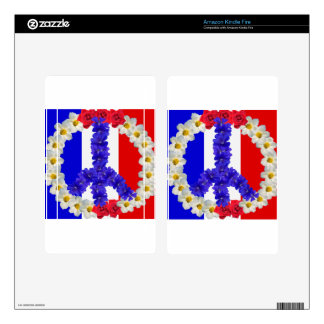 french flag peace sign decals for kindle fire