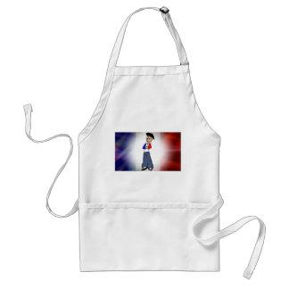 French flag & Pierre cartoon apron