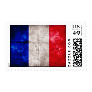 French Flag Postage Stamps
