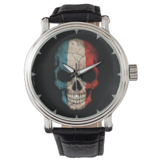 French Flag Skull on Black Watch