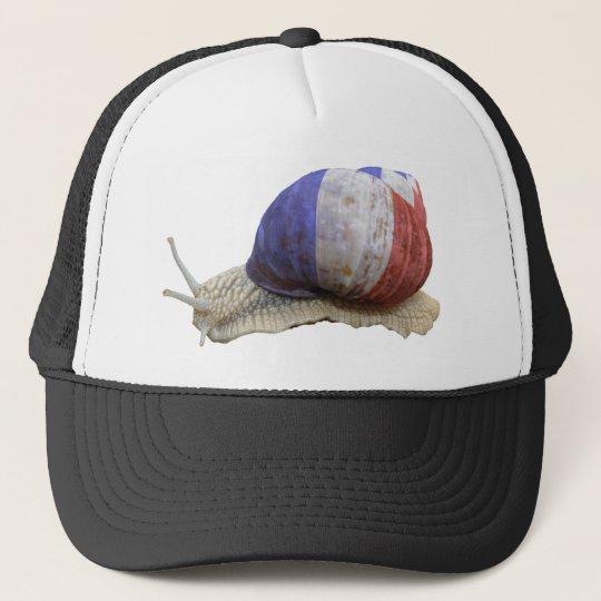 French flag snail trucker hat
