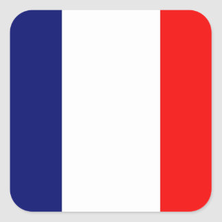 French Flag Square Sticker