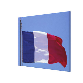 French flag stretched canvas prints