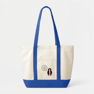 French Flag Talking Penguin Tote Bag