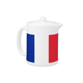 French Flag Teapot
