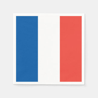 French Flag: Tricolor Bastille Day Party Banner Napkin