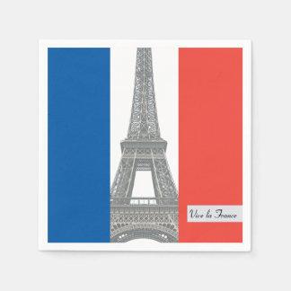 French Flag, Vive la France, Bastille Day Party Napkin