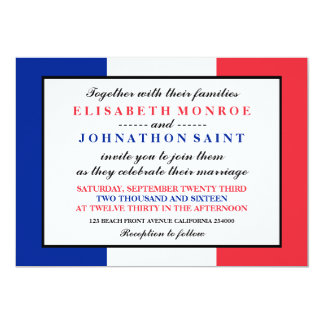 French flag invitations announcements zazzle french flag wedding card stopboris Choice Image