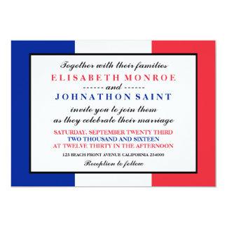 French Flag Wedding Card