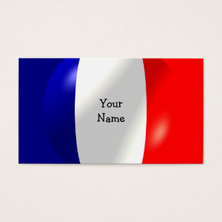 French Flag With Bubble Business Card