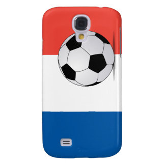 French Flag with Soccer Ball  Samsung Galaxy S4 Case