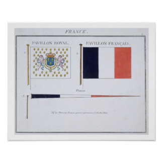 French Flags, from a French book of Flags, c.1819 Poster