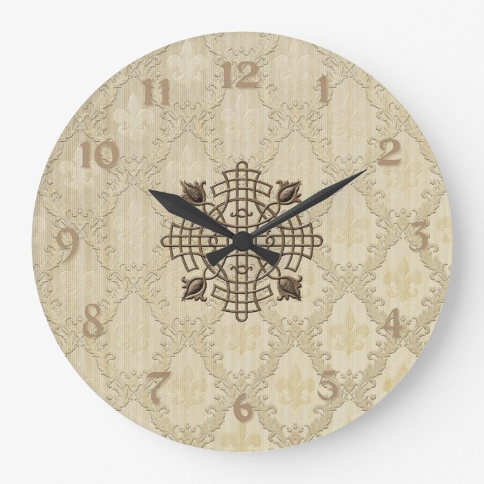 French Fleur De Lis Large Clock