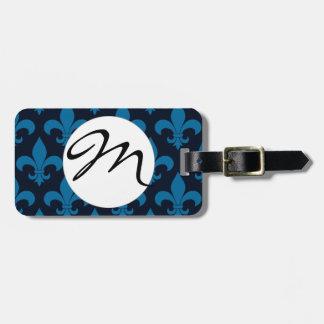 French Fleur de lis Monogram Trendy Paris Tags For Bags