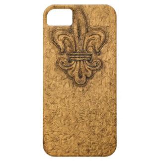 French Fleur de Lis New Orleans Mardi Gras Texture iPhone 5 Covers