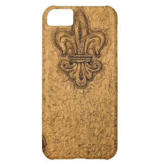 French Fleur de Lis New Orleans Mardi Gras Texture iPhone 5C Cover