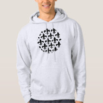 French fleur de lis Pattern Parisian Design Hoodie