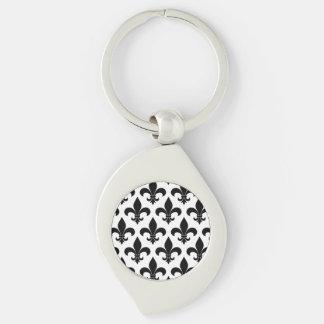 French fleur de lis Pattern Parisian Design Keychain