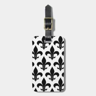 French fleur de lis Pattern Parisian Design Tag For Bags
