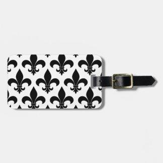 French fleur de lis Pattern Parisian Design Bag Tag