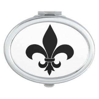 French fleur de lis Pattern Parisian Design Makeup Mirror