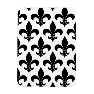 French fleur de lis Pattern Parisian Design Rectangular Photo Magnet