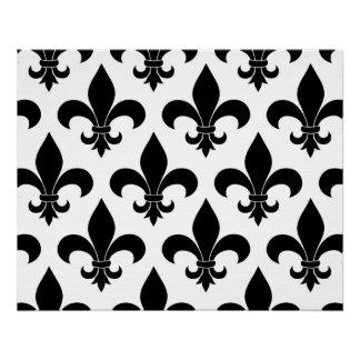 French fleur de lis Pattern Parisian Design Perfect Poster