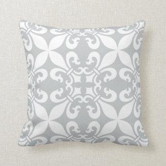 French Fleur de Lys Pattern Customizable Color Pillow