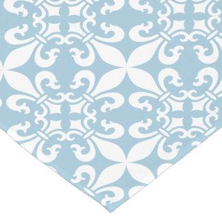 French Fleur de Lys Pattern Customizable Color Short Table Runner