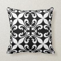 French Fleur de Lys Pattern Customizable Color Throw Pillow