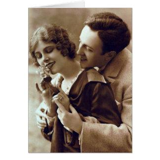 French Flirt - Retro Romantic Postcard
