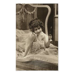 French Flirt  - Vintage Pinup Girl Poster at Zazzle