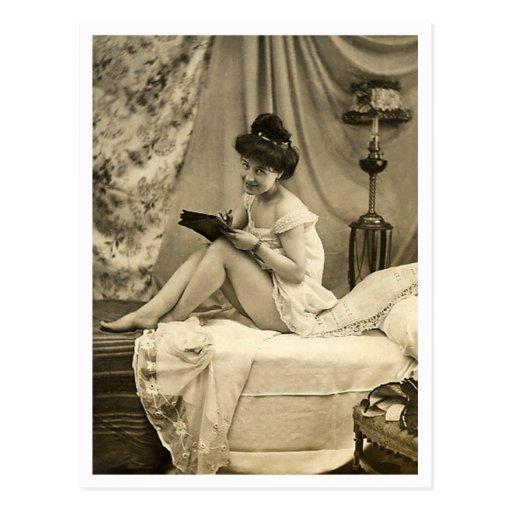 French Flirt  - Vintage Pinup Postcards