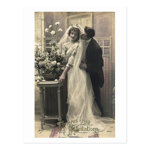 French Flirt - Vintage Romantic Love Postcards