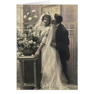 French Flirt - Vintage Romantic Love Stationery Note Card