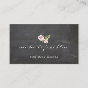 French business cards templates zazzle french floral bouquet on chalkboard business card colourmoves