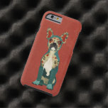 French Floral Bulldog Red iPhone 6 case