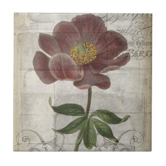 French Floral I Ceramic Tile