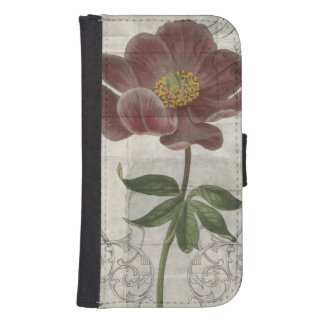 French Floral I Wallet Phone Case For Samsung Galaxy S4