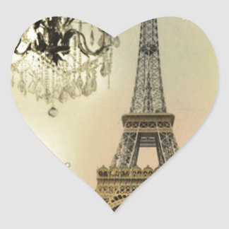 French floral lace chic paris girly eiffel tower heart sticker