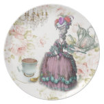 French floral Paris Tea Party Marie Antoinette Dinner Plate