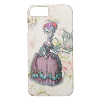 French floral Paris Tea Party Marie Antoinette iPhone 8/7 Case