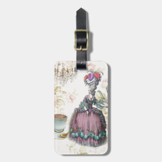 French floral Paris Tea Party Marie Antoinette Luggage Tag