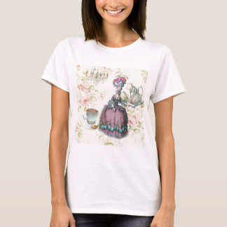 French floral Paris Tea Party Marie Antoinette T-Shirt