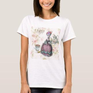 French floral Paris Tea Party Marie Antoinette T-Shirt