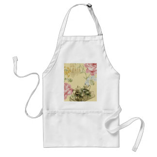 French floral Teacup Teapot Paris Tea Party Adult Apron