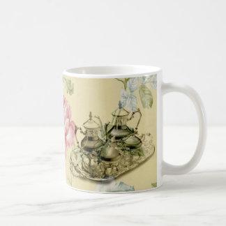 French floral Teacup Teapot Paris Tea Party Coffee Mug